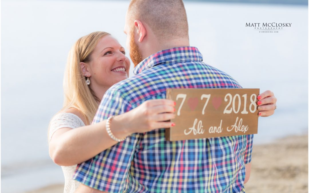 Ali and Alex's Great Sacandaga Lake Beach Engagement