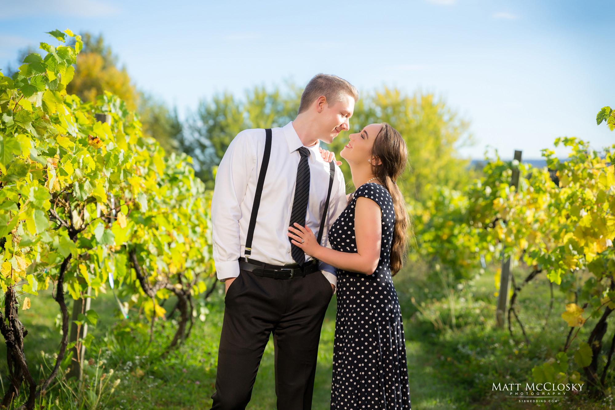Emma Cranston Rob Altamont Vineyard Winery Engagement 518Wedding 518 Wedding 518Photo 518 Photo Wedding Photographer Albany NY Altamont Manor Vineyard engagement photos