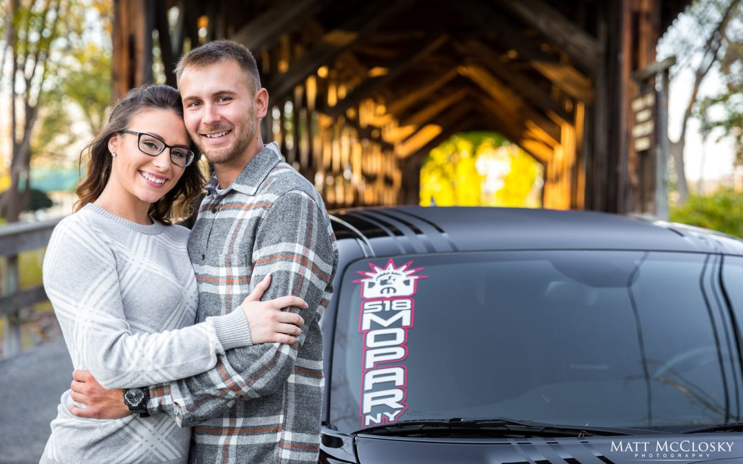 Heather and Jordyn's Covered Bridge Engagement, Central Bridge NY
