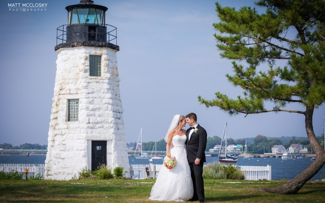 Masha and Christopher, Belle Mer Goat Island Wedding, Newport RI
